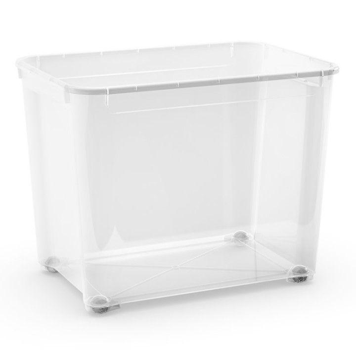 FÖRVARINGSLÅDA PLAST CLEAR BOX XL 70L - Förvaringslådor - Förvaring - Inredning