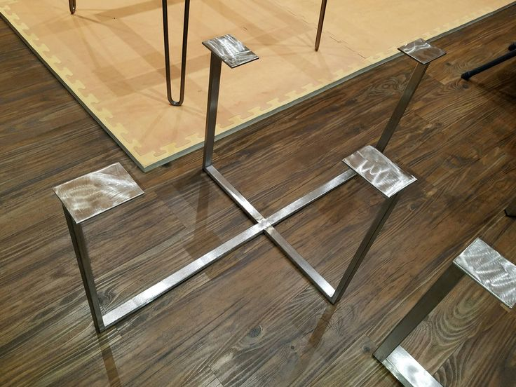 Table Legs,Stainless Steel Table Legs,Brushed Finish,Handmade In U.S.