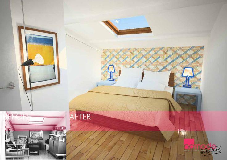 """Il grande progetto di Nomade Relooking. Applicare l'idea del Relooking, semplice ed economico, agli spazi che hanno bisogno di una """"svecchiata"""" #nomaderelooking #nomadearchitettura#relooking#ristrutturare #interiors#interiordesign #italiandesign #bedroom"""