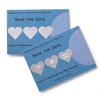 Save the date scratch cards!
