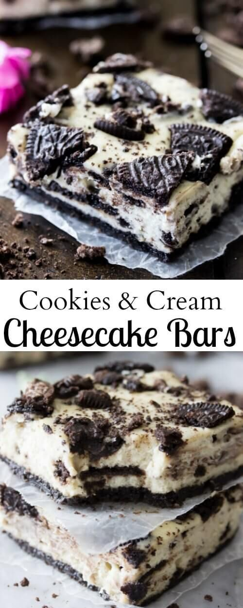These Oreo Cheesecake Bars are so easy to make and SO good! via @sugarspunrun