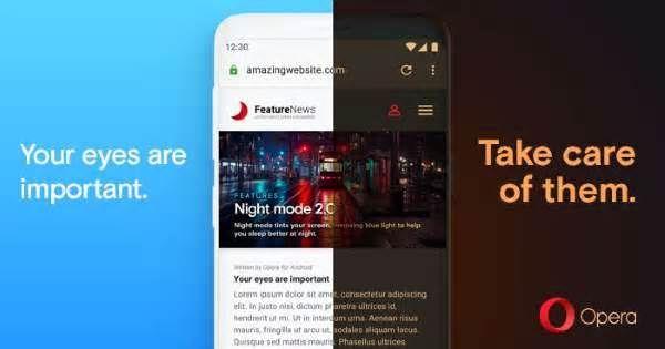 Opera Browser Dark Mode Brings Noir Hue To Android Phones Like Samsung Galaxy S10 Samsungnews News Viraldevi Pinned From Decemb Opera Browser Opera Browser