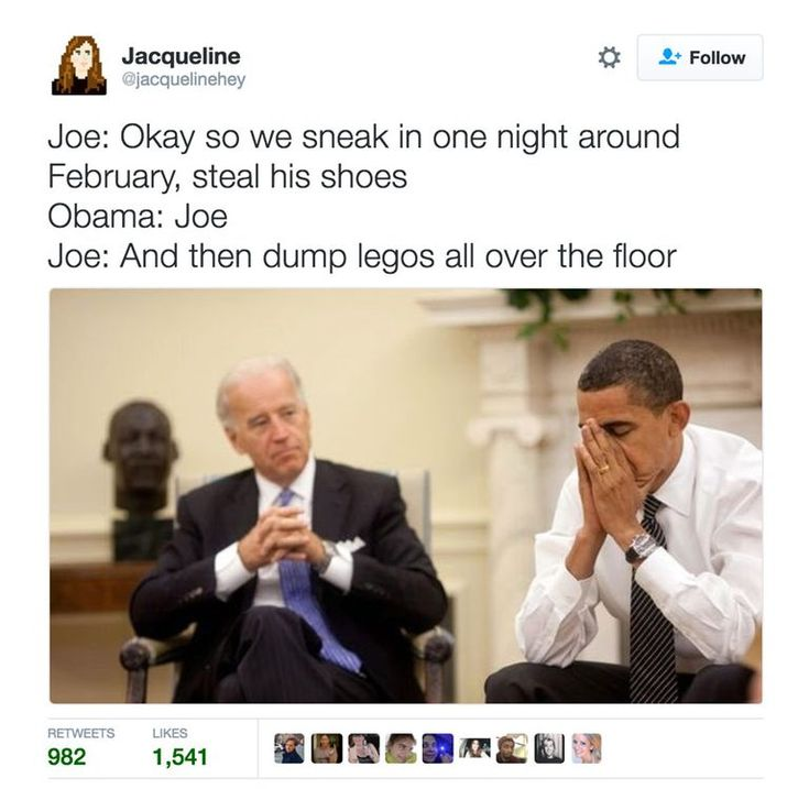A roundup of the best memes showing Barack Obama and Joe Biden's imagined conversations about pranking Donald Trump.