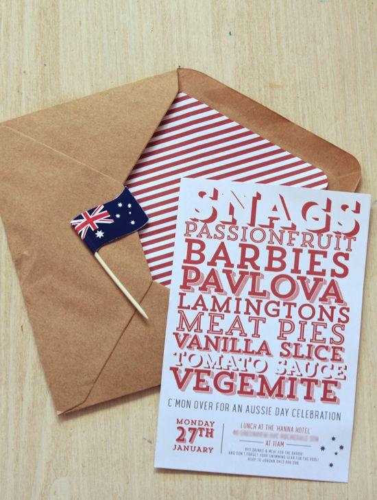 Australia Day Invitations | Polkadot Prints