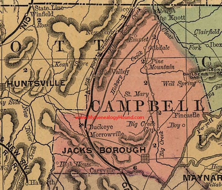 Best Vintage Tennessee County Maps Images On Pinterest - County map of east tennessee