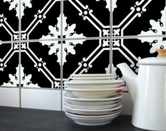 TILE DECAL set of 4 RIMAL 01 by BOUBOUKIshop on Etsy