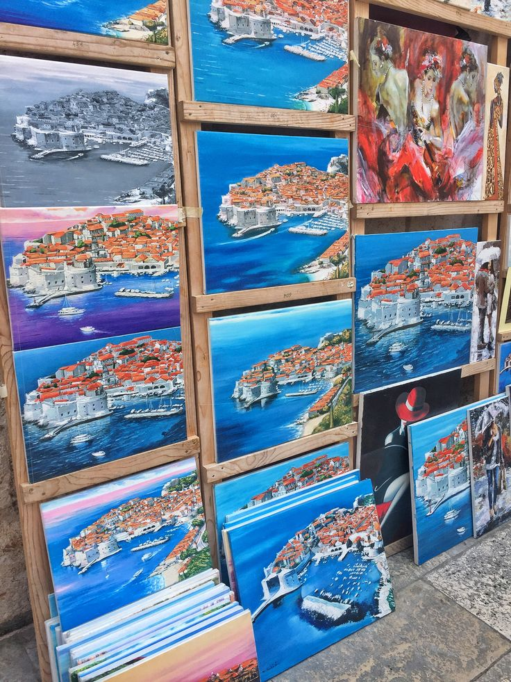 Catch a moment... 💙 #canva #paintings #dubrovnik #awesome