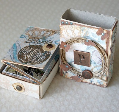 matchbox - mini album and mini box