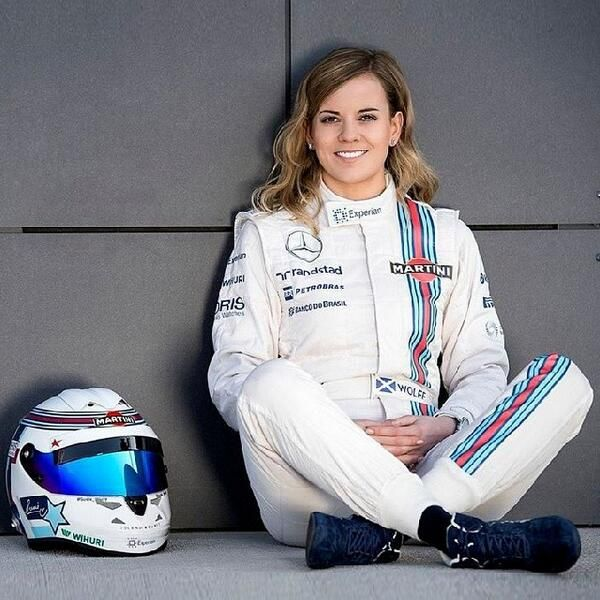 Susie Wolff / Martini Williams In my next life, I want to have her job
