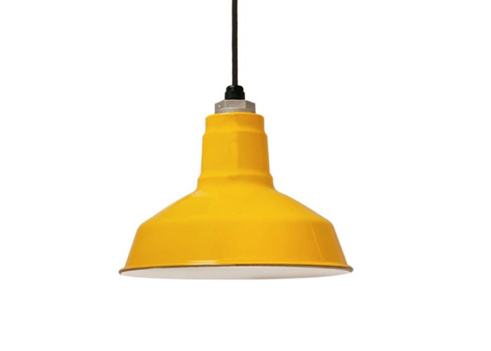 yellow pendant light inspiration, would also be nice in grey or pastel