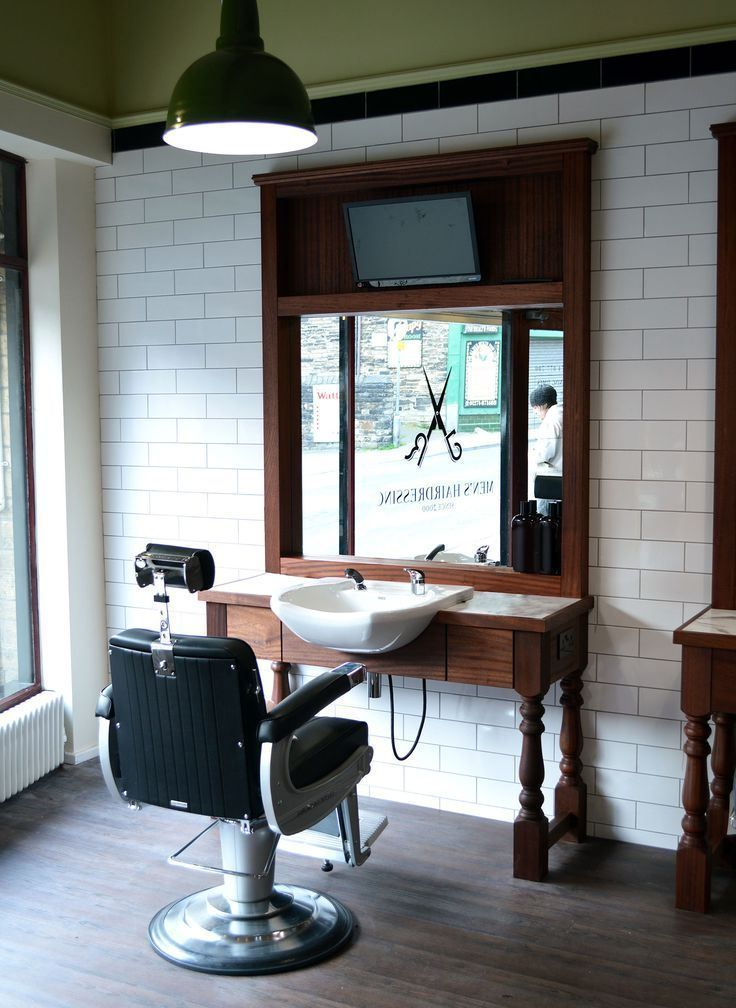 shampoo sink and chair how to install hanging interior, interior barbershop design ideas beauty salon floor plan small black white decor ...
