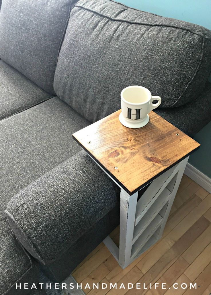 Easy DIY sofa tables {Heather's Handmade Life}