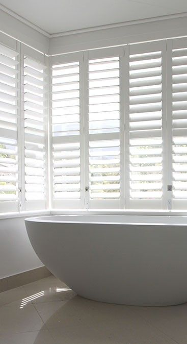 white louvre french shutters - Google Search