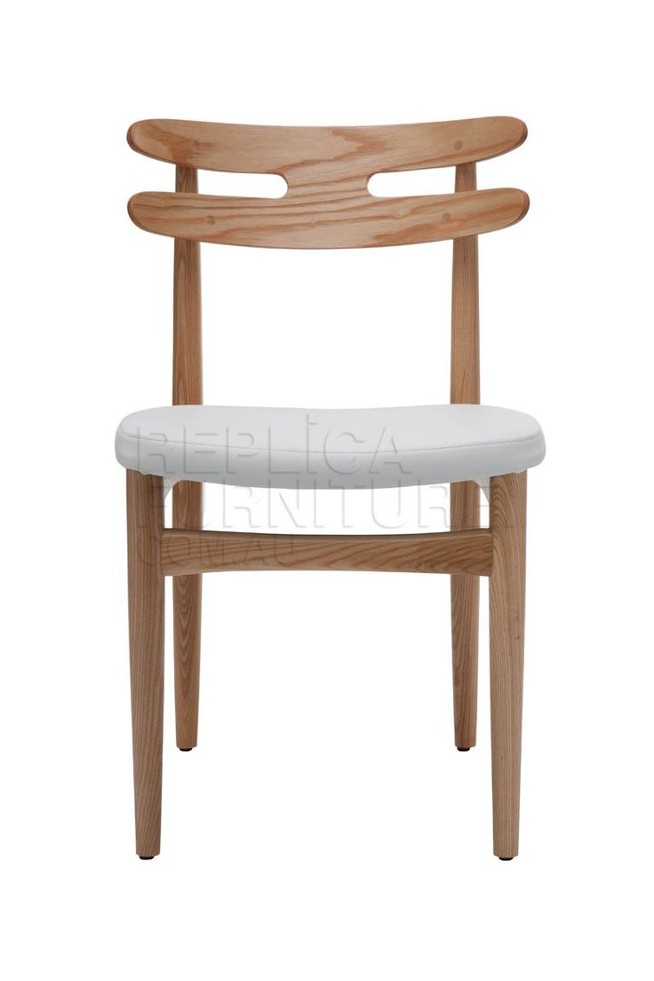 Bramin+Chair+with+White+Seat+-+HW+Klein+Replica+--+The+Bramin+Chair+was+designed+by+Scandinavian+designer+HW+Klein.++This+simple+yet+timeless+design+is+reproduced+to+the+exact+specifications+of+the+original+in+our+Bramin+Chair+replica.++Expertly+crafted+from+wood,+the+sleek+lines+of+this+classic+design+are+complemented+by+the+textured+grain+of+the+solid+ash+wood+frame…