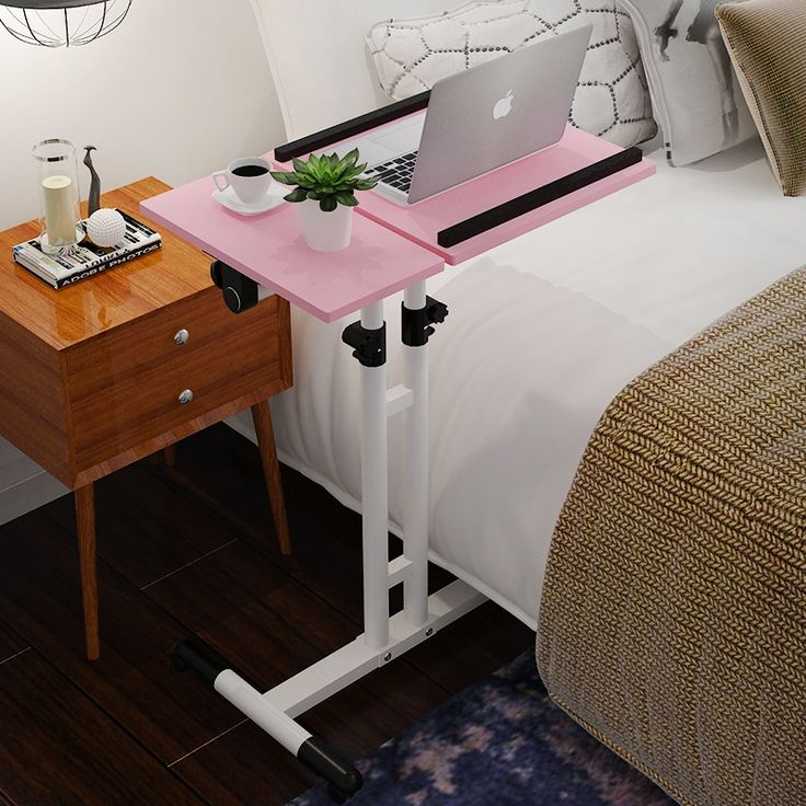 202.83$  Watch now - http://ali7ol.worldwells.pw/go.php?t=32782022733 - Simple modern notebook desk economical type computer desk household adjustable bed table moving table 202.83$