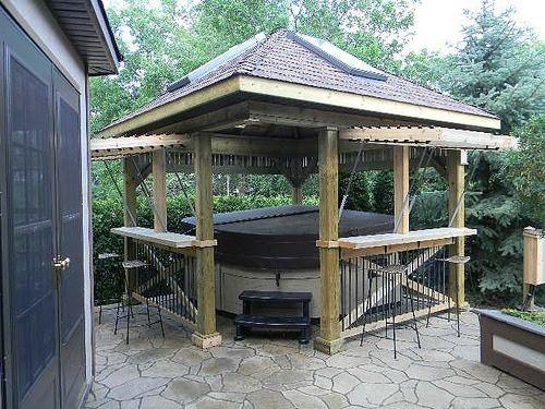 22 best hot tub enclosure images on pinterest backyard ideas garden ideas and outdoor ideas - Hot Tub Enclosures