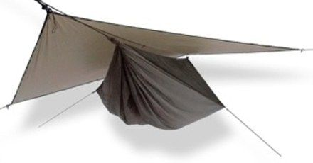 Hennessy Hammock Hyperlight Asym Zip Hammock - comfortable durable shelter for backcountry adventures that include trees and some warmer weather. 28 oz