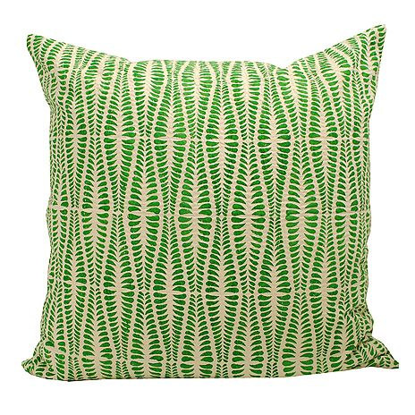 Pillowcase Ormbunke by Swedish Afroart. 100% cotton. Made in Bangladesh. Fair trade and handmade.