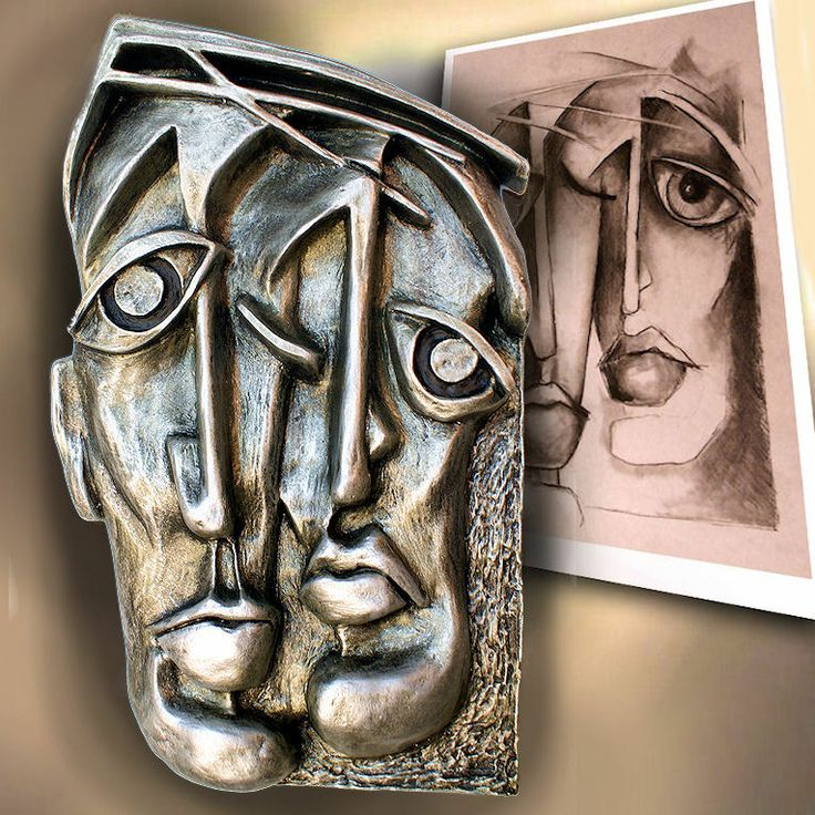 Contemporary relief casting sculpture together limited