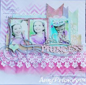 Princess by Amy Prior using #a2zscraplets #alteredchipboard #rangerink #liquidpearls #lindysstampgang #heidiswapp #dylusions
