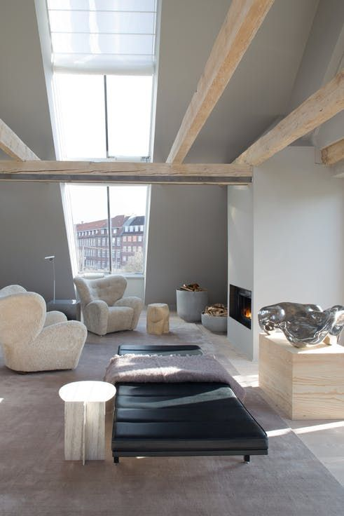Vipp has opened a hotel with one suite in Copenhagen Denmark. It is decorated in a beautiful nordic style.