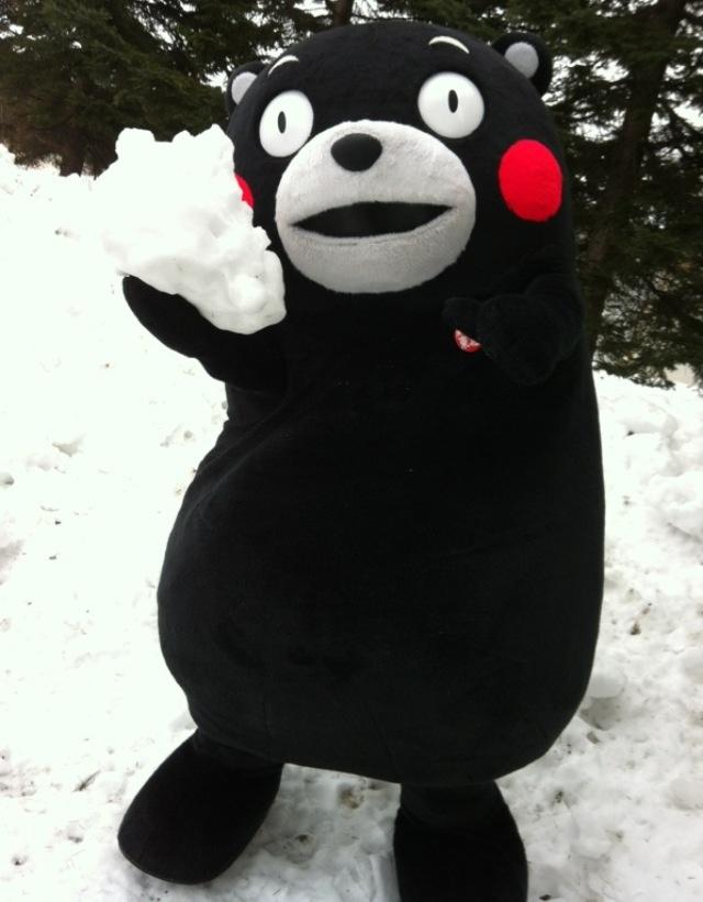Kumamon with snow