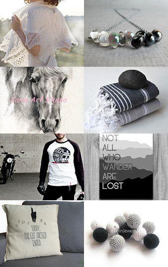 black-gray-white by Ilona on Etsy--Pinned with TreasuryPin.com