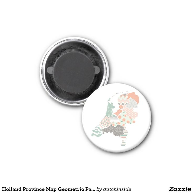 Netherlands Driving Map%0A Holland Province Map Geometric Patchwork Style   Inch Round Magnet by   DutchInside on  Zazzle