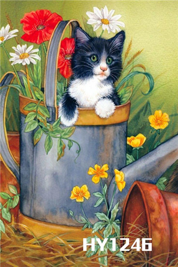 Cat 12x18 Mini Garden Flag Banner Decorative Flags Hy1246 Cats Cat Art Cat Painting
