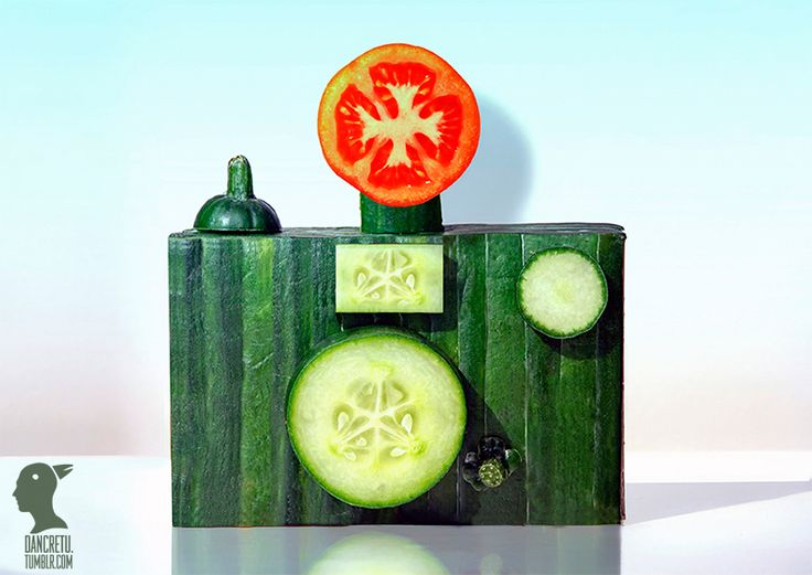 Food Sculptures Made with Fruits and Vegetables by Dan Cretu sculpture food. Is it food or is it art?