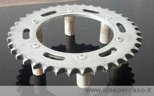 sottopentola upcycling corona moto