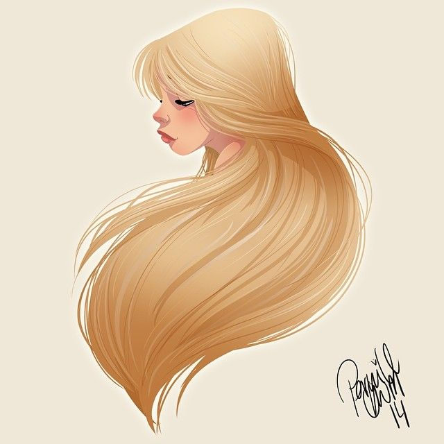 Pinup Arena • pernilleoe: Hair-thingy #drawing #doodle...
