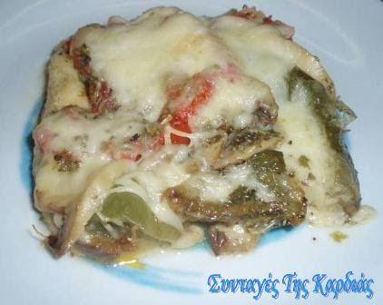 ΣΥΝΤΑΓΕΣ ΤΗΣ ΚΑΡΔΙΑΣ: Λαχανικά με mozzarella