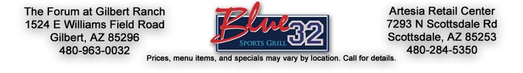 Welcome to Blue 32 Sports Grill