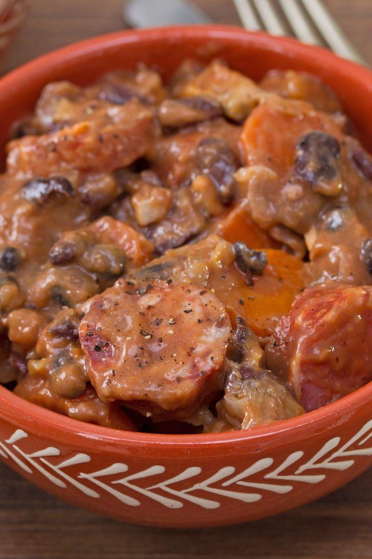 One Pot Brazilian Pork and Black Bean Stew Recipe with Chorizo Sausage ...
