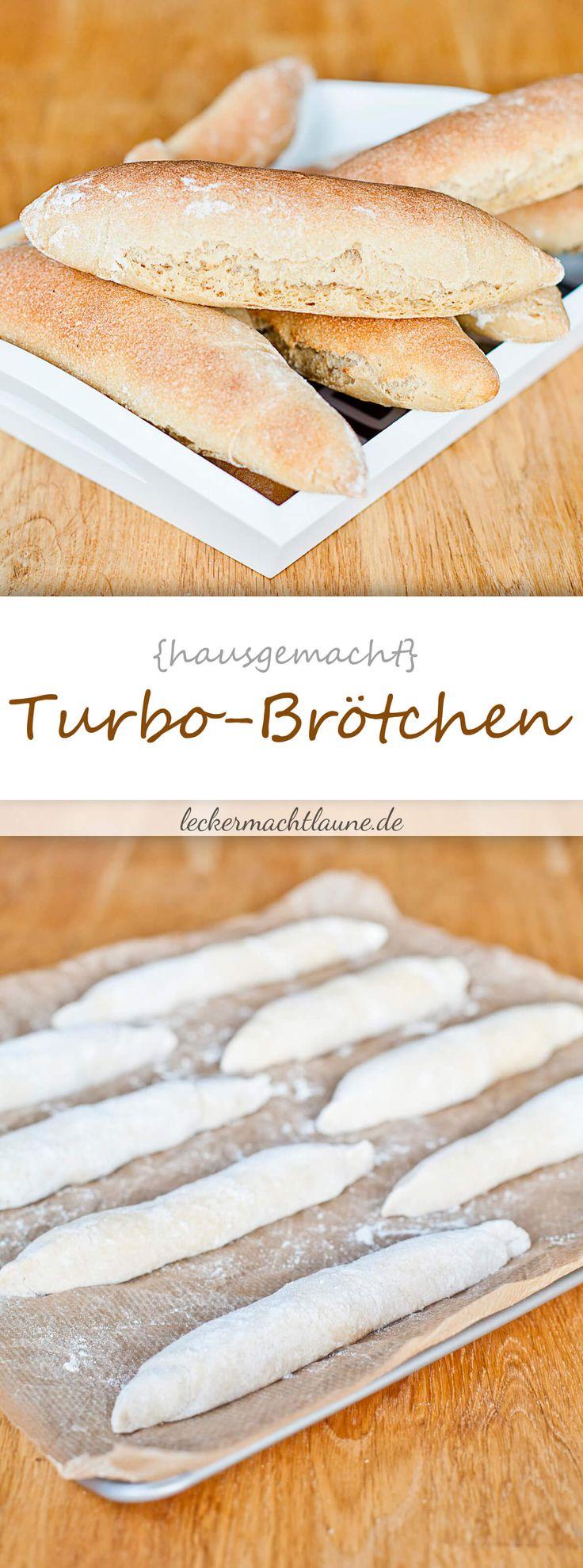 Nach insgesamt nur eineinhalb Stunden stehen diese Turbo-Brötchen auf dem Frühstückstisch. Schnell und praktisch, nicht wahr?