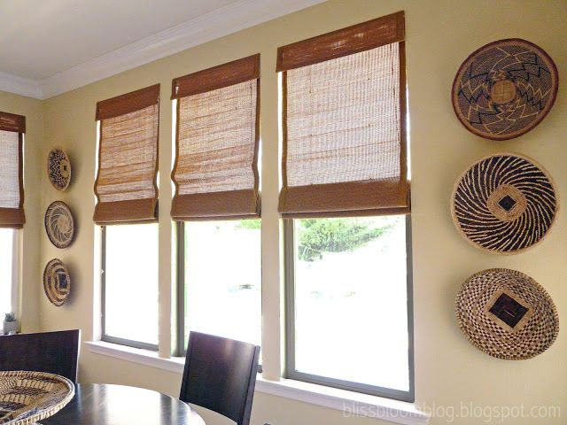 Wall Decor Using Baskets : Best images about african baskets in use on