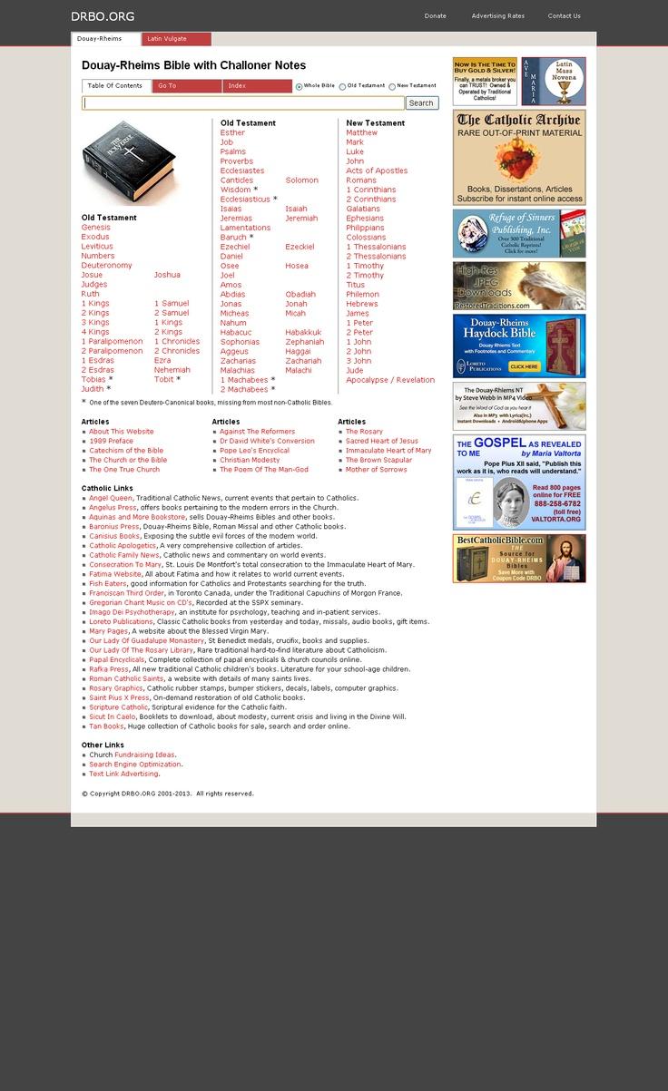 Catholic Bible, Douay-Rheims Bible Online, Search, Study, Scriptures.