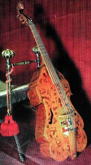 Bass viola da gamba perhaps by John Rose II, London. ca. 1600