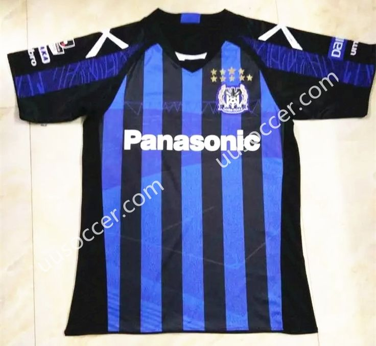 2016/17 Japan League Gamba Osaka Home Blue and Black  Soccer Jersey AAA