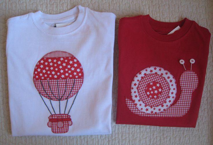 Camisetas personalizadas - lazos de tul: En rojos y blancos
