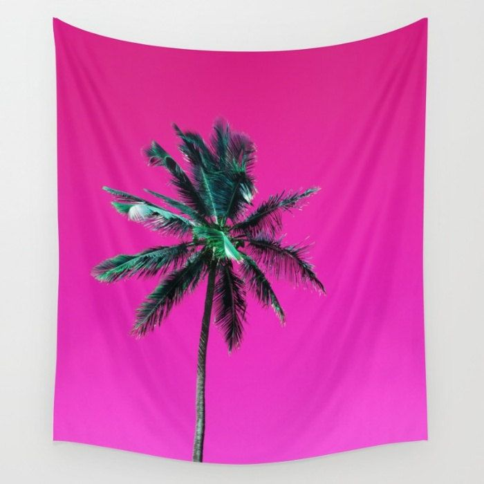 Tropical Tapestry, Palm Tree Wall Hanging, Pink Tapestry, Photo Tapestry, Coastal Decor, Purple Tapestry, Tropical Glam Decor, Beach Vibes by OlaHolaHolaBaby on Etsy