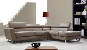 Exciting Beige Leather Sofa