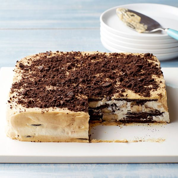 Weight Watchers Peanut Butter-Banana Ice Box Cake - This no-bake, make-ahead dessert, is guaranteed to be a hit at your next summer gathering. 7 SmartPoints
