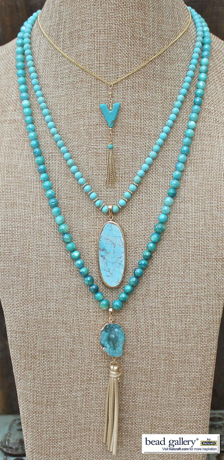 Sedona Necklaces featuring #BeadGallery beads and Sedona Pendants available at @michaelsstores
