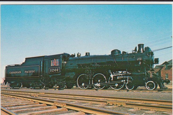 Canadian Pacific 1201 Train Railroad Postcard Montreal Canada 593