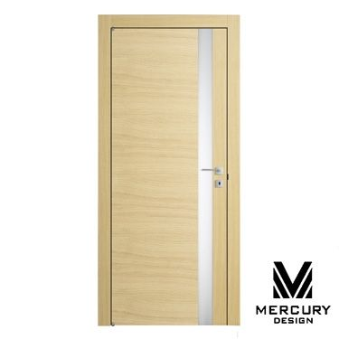 Межкомнатная дверь из дуба MODERNO VetroLine Rovere Vanilla