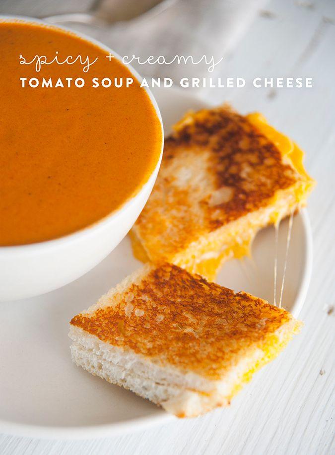 spicy tomato cream soup recipe via LaurenConrad.com