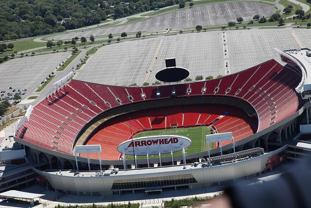 The Kansas City Chiefs football stadium