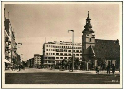 Ul. Świętojańska ( Adolf Hitler Straße ), Kolegiata i kamienica Jòzefa Skwiercza. Wyd. Carl Muller & Sohn Gotenhafen